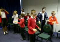 10 and 11 year olds in Chelmsford put on the 'beer goggles'